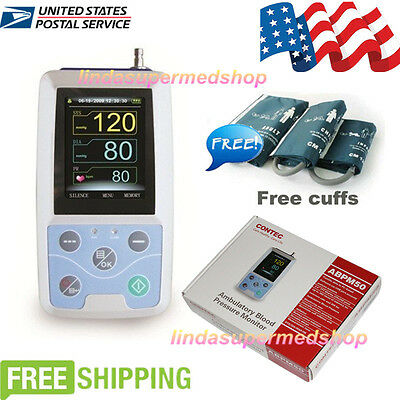 Contec Us 24 Hours Ambulatory Blood Pressure Monitor Abpm503 Cuffspc Software