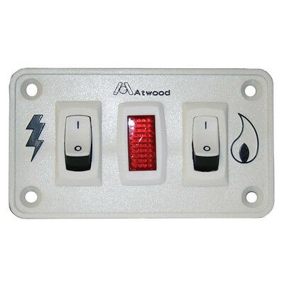 RV Atwood Dometic Water Heater White Dual 12V Switch Panel 91230 Gas / Electric ()