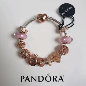 Pandora Rose Gold Bracelet Charms