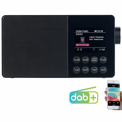 VR-Radio Mobiles Akku-Digitalradio mit DAB+, FM, Bluetooth & Farbdisplay, 6 W