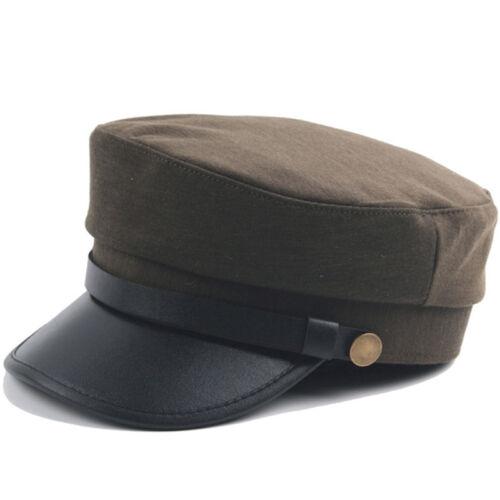 Greek Fisherman Cap Womens Mens Sailor Military Flat Plain Soldier Combat Hats Clothing, Shoes & Accessories