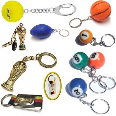 Auswahl Schlüsselanhänger Sport: Tennis Billard American Football FIFA World Cup