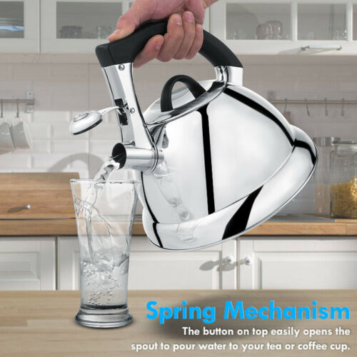 Premium Whisting Tea Kettle Stainless Steel Audible Whistle