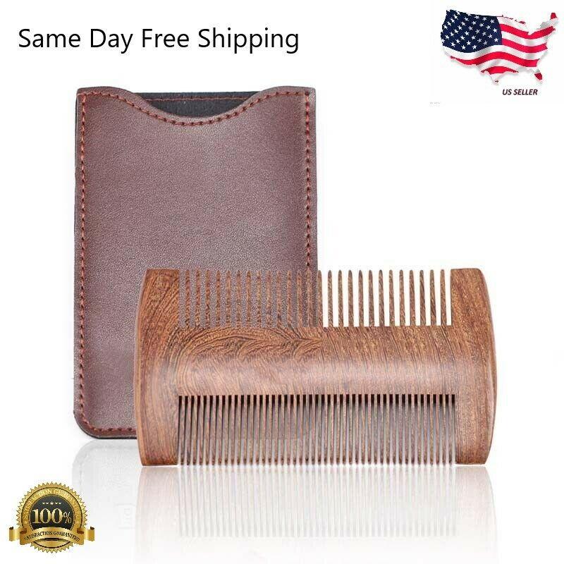 Natural Sandalwood Comb Beard Comb Pocket Size Comb Massage Hair Care Comb US