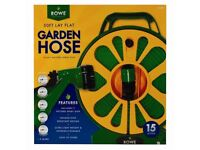 New Boxed Lay Flat Garden Hose 15m