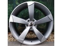 """17"""" TTRS Alloys and tyres for 5x100 VW Polo Seat Ibiza Audi A1 Etc"""