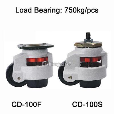 4pcs Adjustable Industrial Casters Retractable Leveling Machine Caster Load750kg