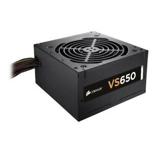 Corsair VS650 Power Supply 650W PSU 2x PCI-E SLI-Crossfire 80 Plus Efficiency