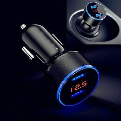 Auto KFZ 2 USB Adapter Ladegerät 3,1A 12V Zigarettenanzünder LCD Bildschirm