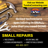 Get your SMALL repairs DONE! We can help! Free Estimates