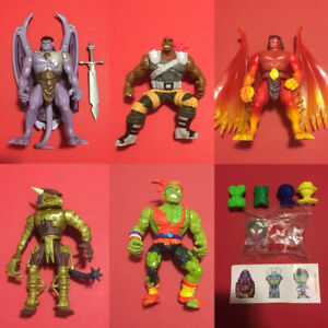 1990s Action Figure toys Lot Gargoyles GI Joe Crazy Bones Toxie
