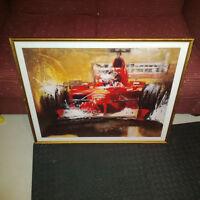 Cadre de Michael Schumacher avec Ferrari