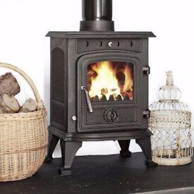 4.5KW MULTIFUEL STOVE !! fireplace multi fuel wood burner flue liner pipe flexible boiler stoves