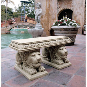 Beautiful Grand Lion Of St. John's Square Sculptural Bench