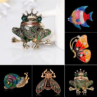 Frog Jewelry - Fashion Butterfly Animal Frog Crystal Wedding Bouquet Brooch Pin Women Jewelry