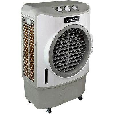 Commercial Evaporative Air Cooler, Large 650 Ft Garage Fan Swamp Humidifier Unit