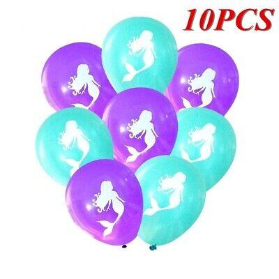 10pcs Little Mermaid Balloons Wedding Ballon Birthday Party Baby Shower Supplies](Baby Shower Ballons)