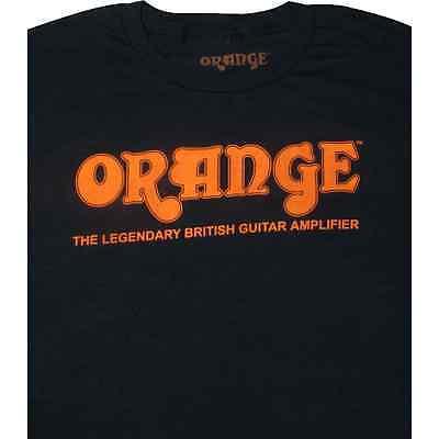 T-Shirt - Orange Amps, Black Retro, Extra Large