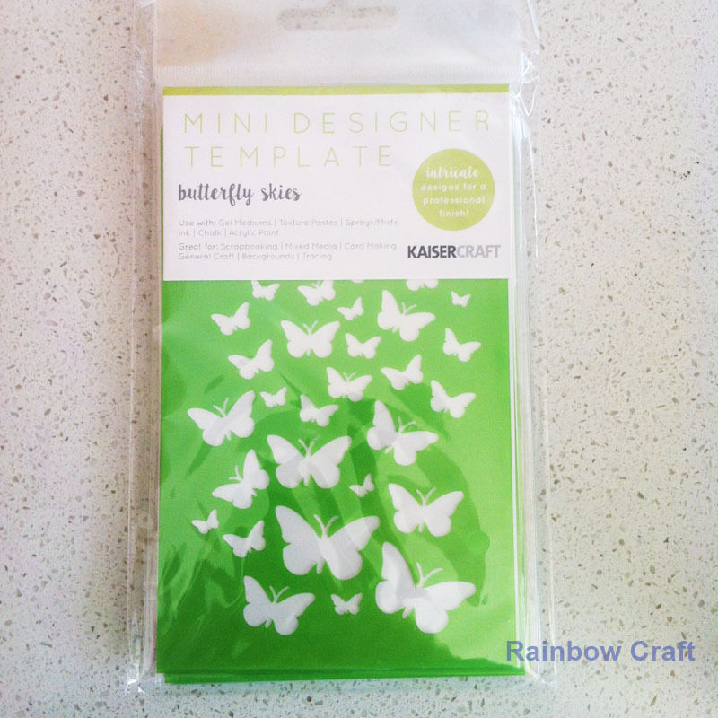 Kaisercraft Mini Designer Templates Stencils Blossom Christmas Holly Leaves - Butterfly Skies