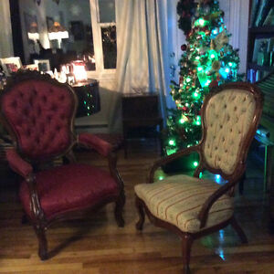 Two beautiful Victorian chairs that make an elegant statement