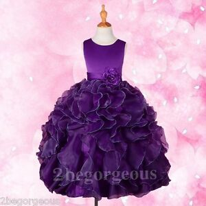 Formal Dress Wedding Flower Girl Bridesmaid Communion Party Age 3-10 Years FG234