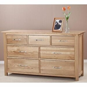 Danube solid oak furniture 3 over 4 bedroom chest of drawers