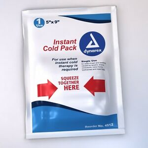Dynarex Instant Cold Pack, 5″ x 9″, 24/Case 4512 Therapy Pak Sore Pain Relief