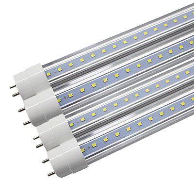 25X 4 FT 18W T8 LED Tube Light Lamp G13 Bulbs Single-End Power 6000K CLEAR LENS