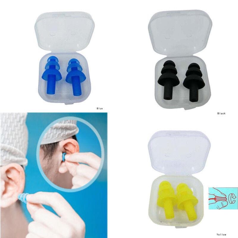 2 Paar Schwimmen Wasserdichte Ohrstöpsel Sport Silikon Weiche Gehörschutz
