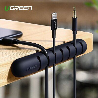 Ugreen Cable Clips Self-Adhesive Desk Cord Management Organizer Wire Holder 2PCS](Cord Holders)