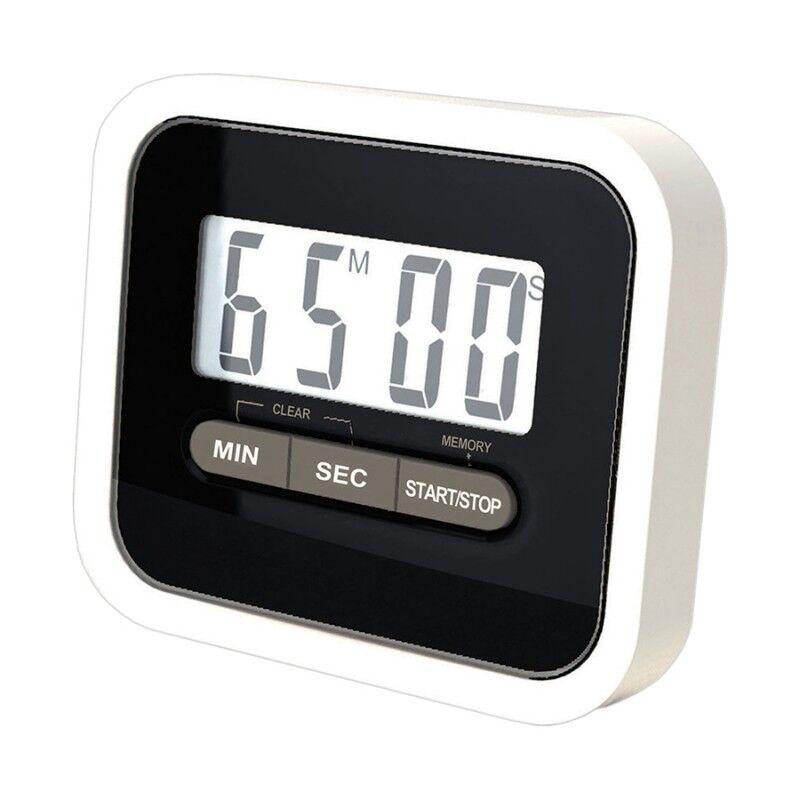 Minuteur Electronique Magnétique Cuisine avec écran LED Noir / Blanc