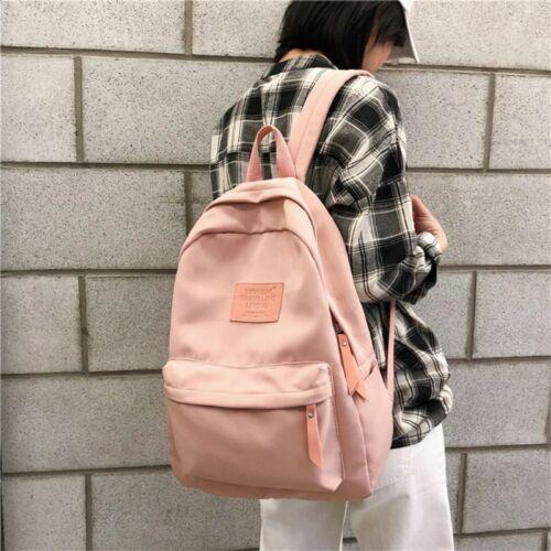 Canvas Backpack Men Women School Travel Daysack Laptop Teena