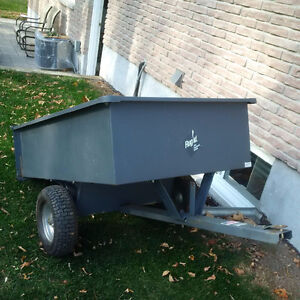 Trailer, fertilizer spreader and lawn sweeper for lawn tractor London Ontario image 1