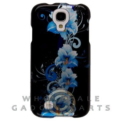 Samsung Galaxy S4 Shield Blue Flowers Case Cover Shell Protector Guard Shield