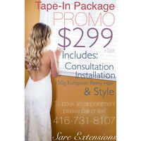 AFFORDABLE-PROMO Hair Extensions - Fusion-Tape-Micro-Nano