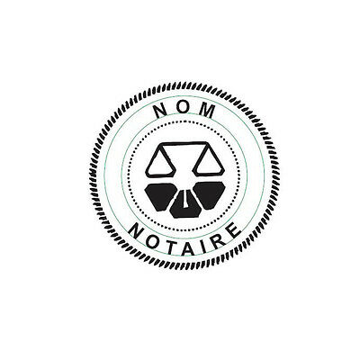 New Imprue Round Self-inking Notary Seal Rubber Stamp - Rhode Island Ideal 400r