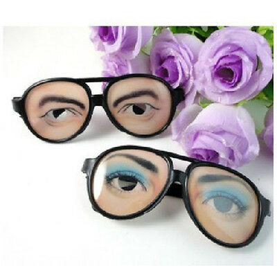 New HALLOWEEN PARTY Funny Glasses Fake Novelty Gag Prank Eye Ball Joke LY - Novelty Glasses
