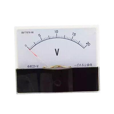 1pc Dc 20v Analog Panel Volt Voltage Meter Voltmeter Gauge 44c2