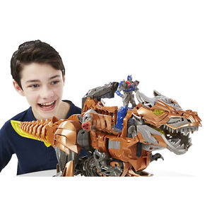Rare Complete STOMP & CHOMP GRIMLOCK Transformers Kids Toy