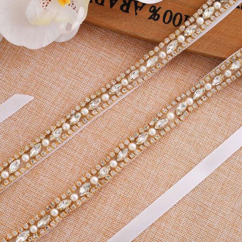 Rhinestone Bridal Sash Belt for Bride Bridesmaid Wedding Dress Silver and Rose Gold