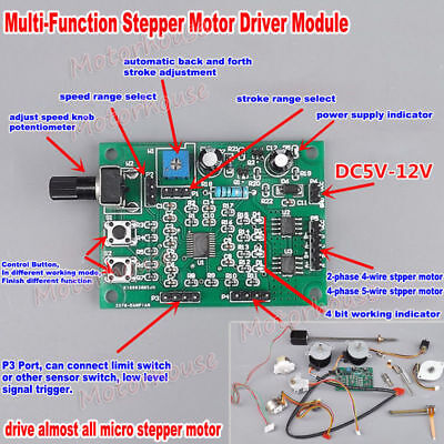 2-phase 4-phase 5-wire Stepper Motor Dc 5v-12v Driver Board Speed Controller