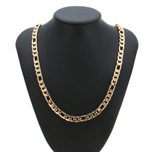 32 inches 18k Yellow Gold 9MM Snake Cuban Link Chain Necklace