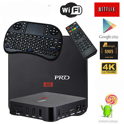 Pro S905 Smart TV BOX Android 5.1 Lollipop Quad Core 8GB Keyboard 4K