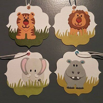 Elephant Hippo Lion Tiger Animals Metal Cutting Dies Stencil Scrapbook Album DIY
