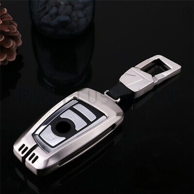 Used, Key Fob Case Sliver Metal Cover Keychain Fits BMW 1 2 3 4 5 6 7 Series X1 X3 X4 for sale  Shipping to Canada