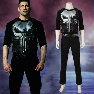 Marvel The Punisher Frank Castle Daredevil Skull Ghost Cosplay Costume - Halloeen Costumes