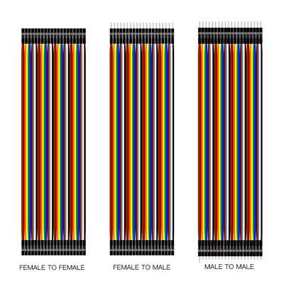 DE 40Pin Dupont Kabel Jumper Wire Linie Kit Pi Arduino Breadboard M-F, M-M,