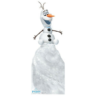 OLAF Olaf's Frozen Adventure Lifesize CARDBOARD CUTOUT Standup Standee Poster  - Frozen Cardboard Cutout