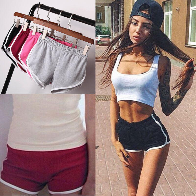 Women Girl Sports Shorts Running Gym Fitness Short Pants
