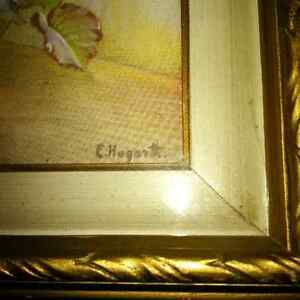 Vintage painting by E. Hogarth - flowers London Ontario image 5